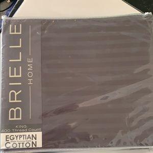 Gray strip duvet cover